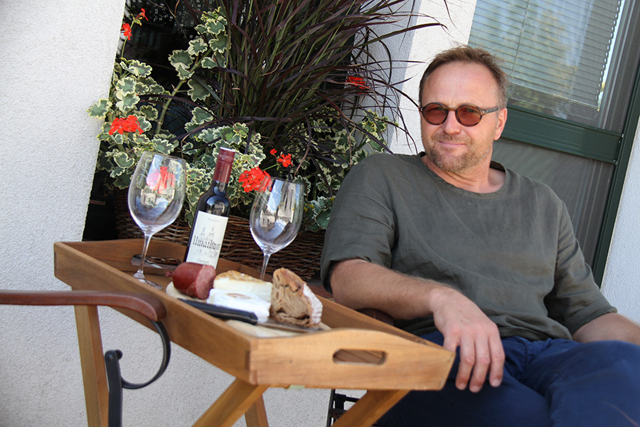 Wolfgang Hautzinger am Biohof