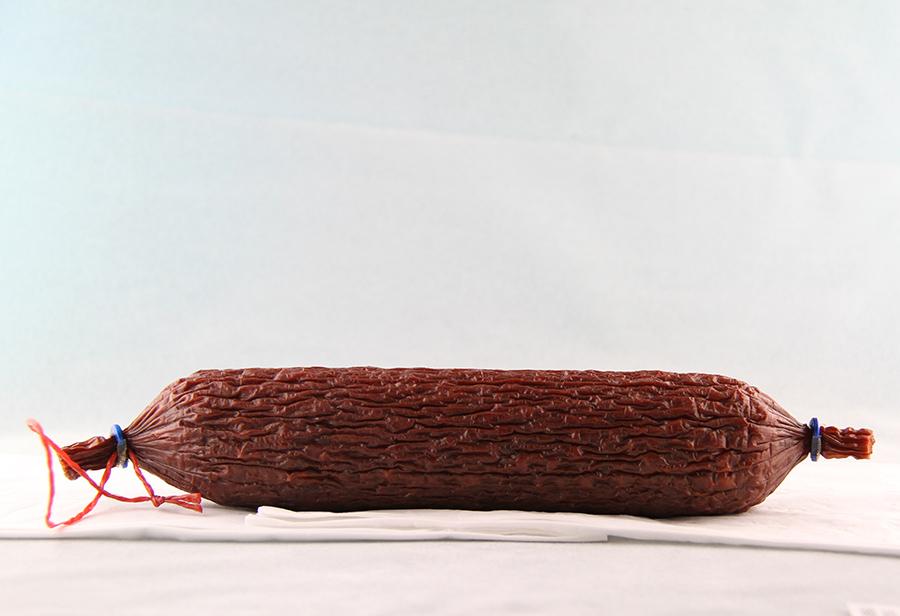 Bio Knoblauchwurst von der Schafzucht Hautzinger
